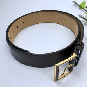 NEW Pierre Cardin Brown Italy LEATHER Belt Size 36